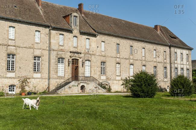 Nouvelle Aquitaine - Limousin - Haute-Vienne - Solignac - facade of the monastic buildings