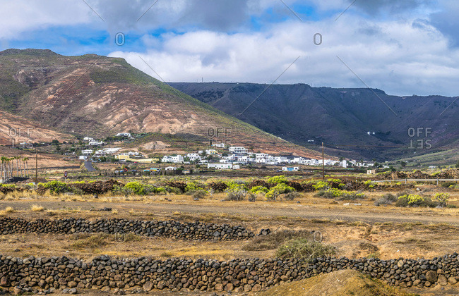 Spain, Canary Islands, Lanzarote Island, village in the mountains