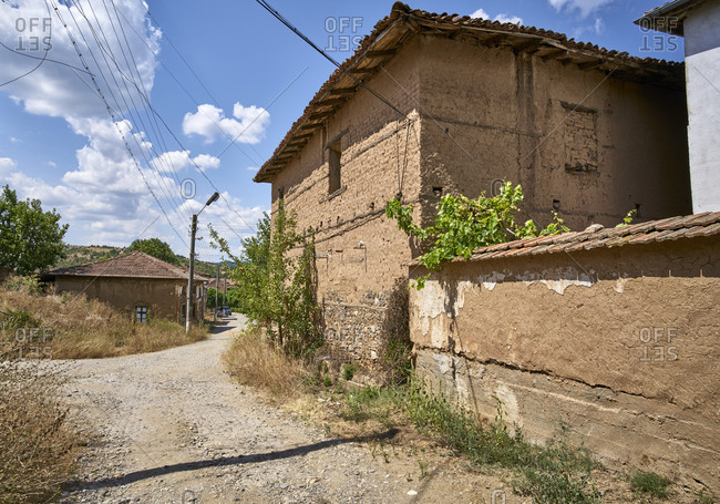 Old adobe style house in the village of Mandritsa, Eastern Rhodope Mountains, Bulgaria