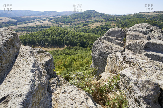 Overlooking the Eastern Rhodope Mountains from the ancient Thracian surface tomb and sanctuary in Tatul, Bulgaria