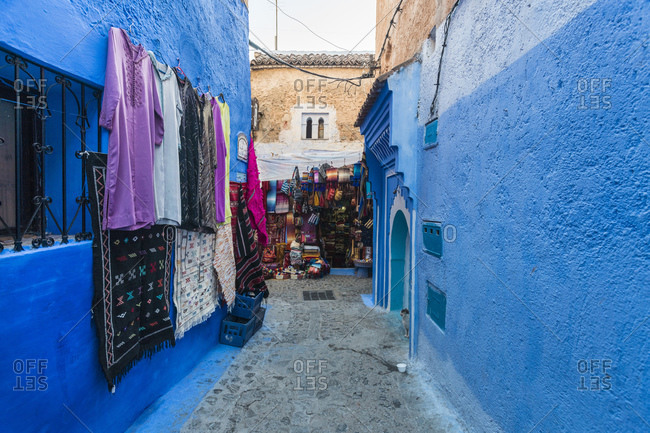 Various goods for sale at market in Chefchaouen- Morocco