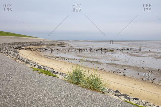 Germany- Lower Saxony- Krummhorn- Beach in Wadden Sea National Parks
