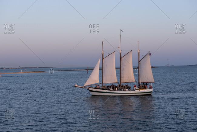 Sailing ship, Cooper River, Charleston, South Carolina, USA