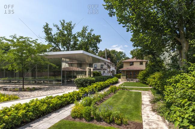 USA, New York, Buffalo - August 6, 2017: Frank Lloyd Wrights Martin House Complex, Buffalo, New York, USA