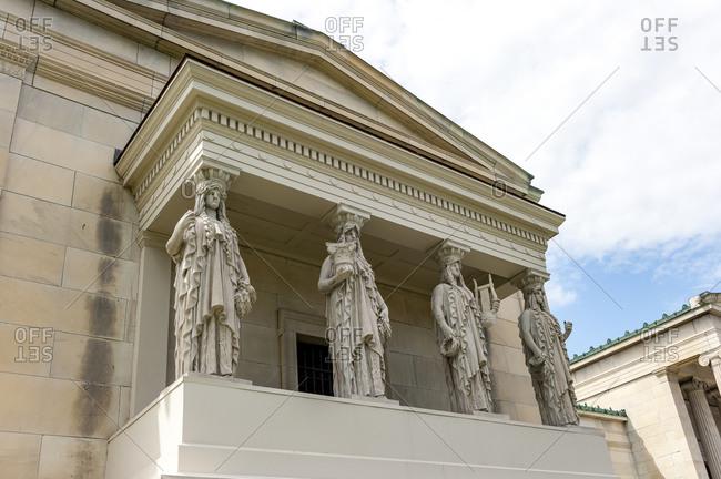 Caryatids of Albright-Knox Art Gallery, Buffalo, New York, USA