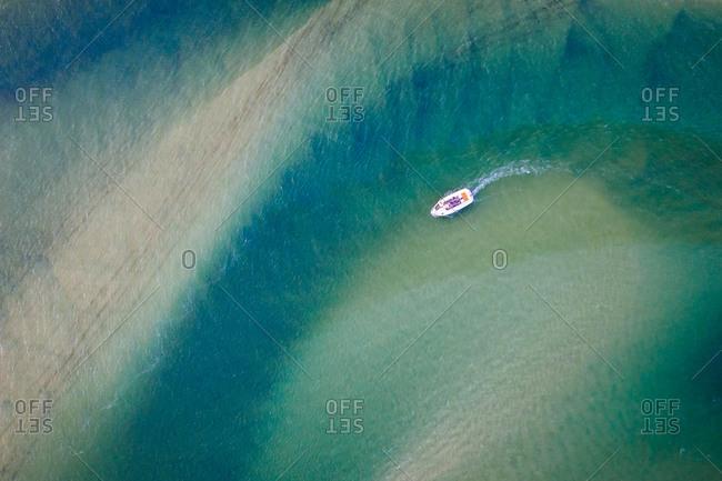 Boat in Noosa River, Noosa Heads, Queensland, Australia