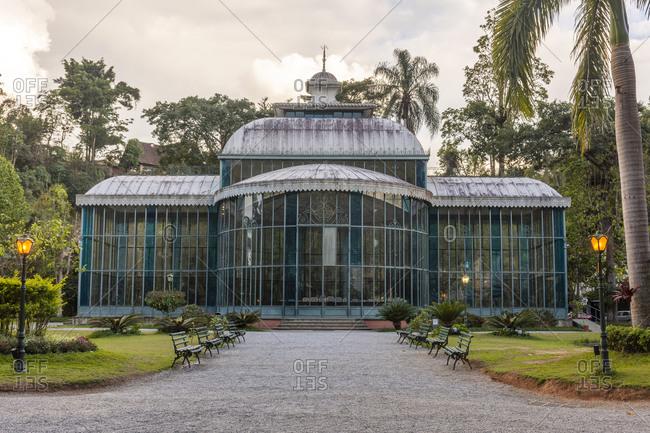 Brazil, Rio de Janeiro, Pete polis - November 12, 2018: Palacio de Cristal (Crystal Palace), Petropolis, Rio de Janeiro State, Brazil