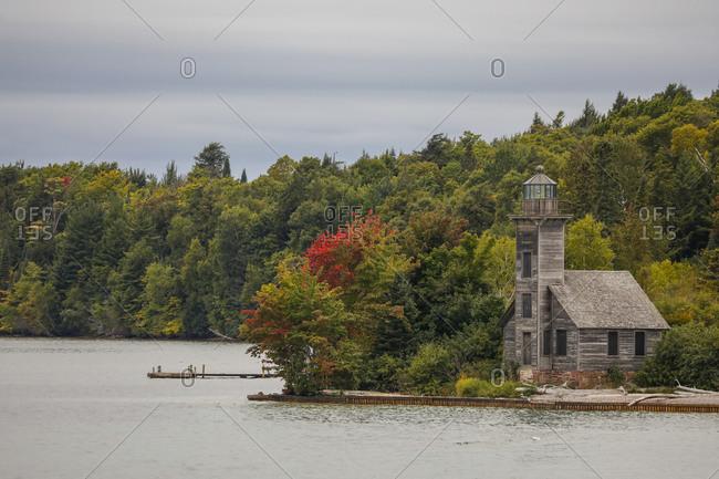Lighthouse at Pictured Rocks National Lakeshore Munising, Michigan, USA