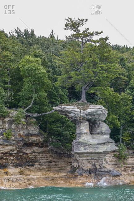 Cliffs at Pictured Rocks National Lakeshore Munising, Michigan, USA