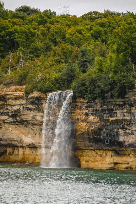Waterfall at Pictured Rocks National Lakeshore Munising, Michigan, USA