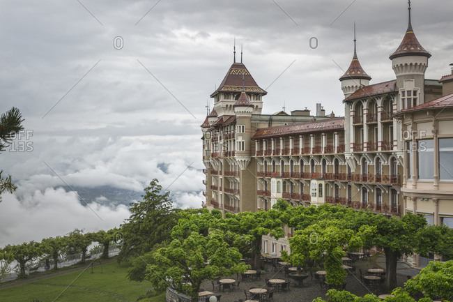 Scenic view of castle, Montreux, Vaud, Switzerland