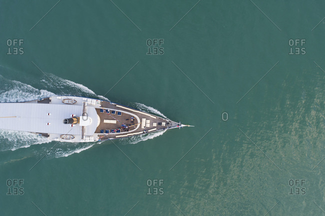 Ship on Lake Geneva, Puidoux, Vaud Canton, Switzerland