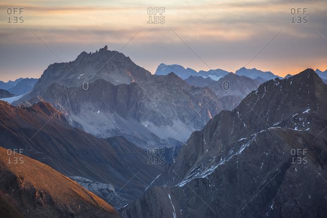 View of high, extreme mountains, Verbano-Cusio-Ossola, Italy