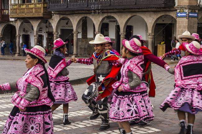 Peru, Peru, Cusco - April 11, 2015: Moments on the Salkantay Trek to Machu Picchu in Peru.