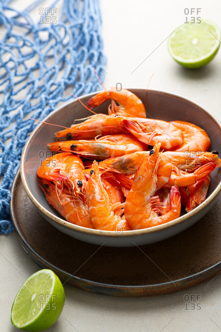 Close up of shrimp in bowl