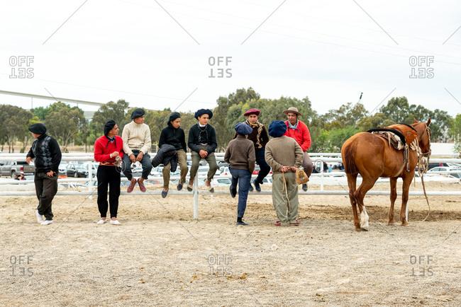 November 11, 2019: Gaucho rodeo in Puerto Madryn. Puerto Madryn, Argentina