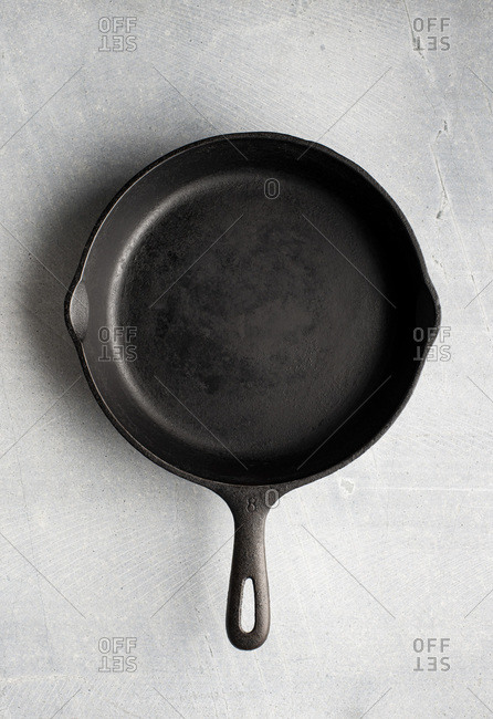 Cast iron pan ready to use