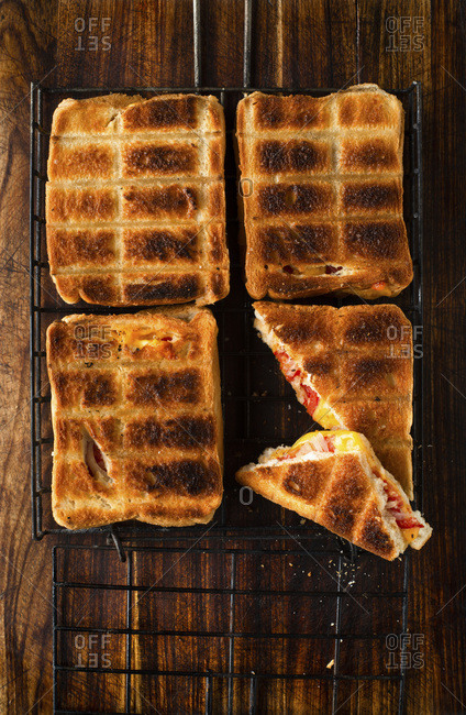 Toasted cheese and Tomato on the BBQ