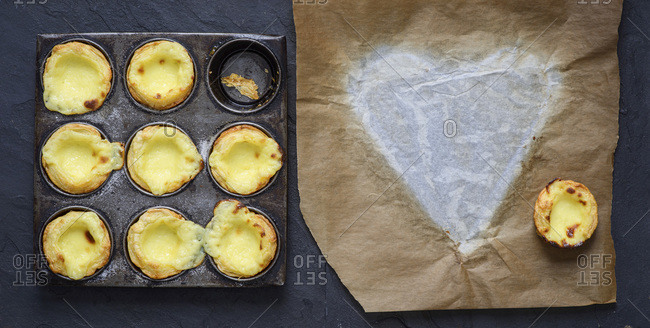Portuguese custard tart for dessert