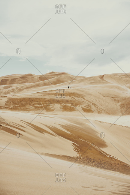 Majestic scenery of sand dunes in National Park in Colorado