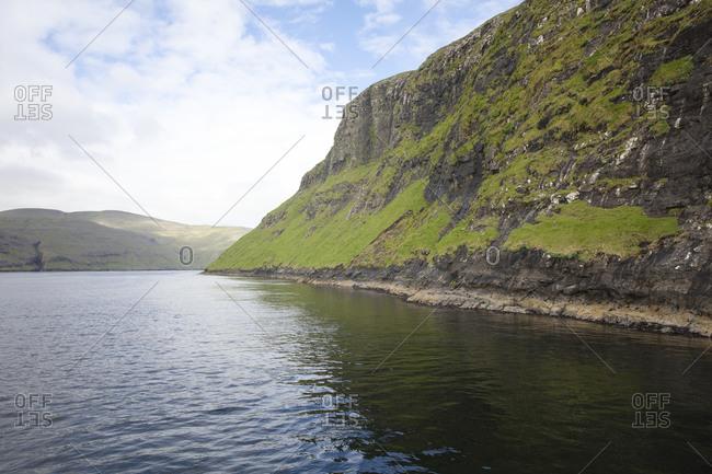 Breathtaking view along the coast of the Faroe Islands