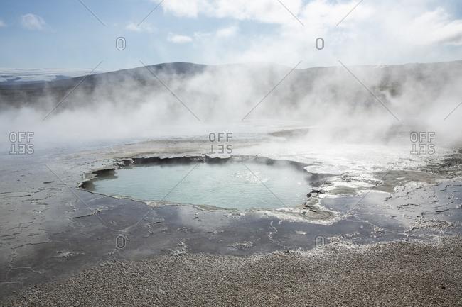 Icelandic geothermal pool and fumarole