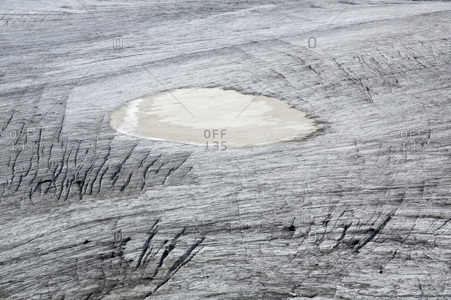 Snow covered frozen landscape in rural Iceland