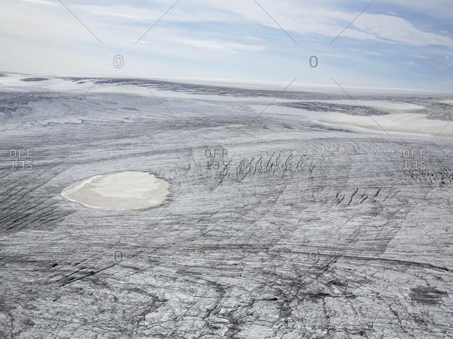 Frozen landscape in rural Iceland