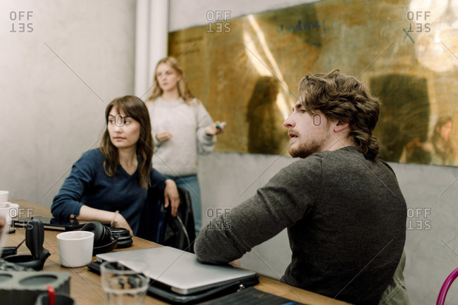 Business people working at creative office