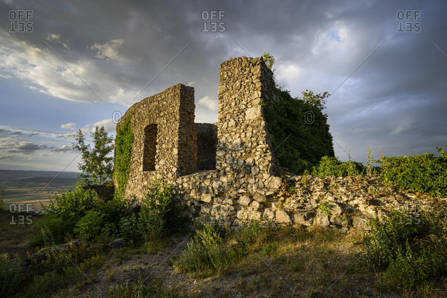 Germany- Baden-Wurttemberg- Ruined chapel of Magdeberg Castle