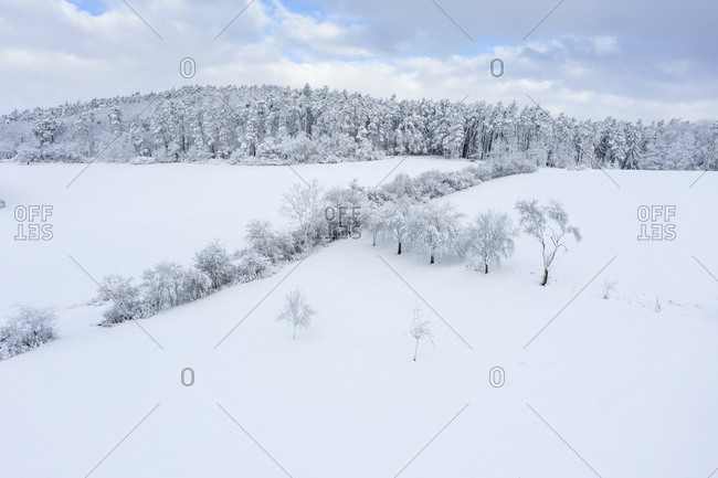 Aerial view ofFranconianHeights in winter
