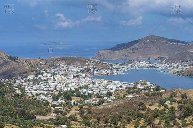 Greece- South Aegean- Patmos- Coastal town in summer