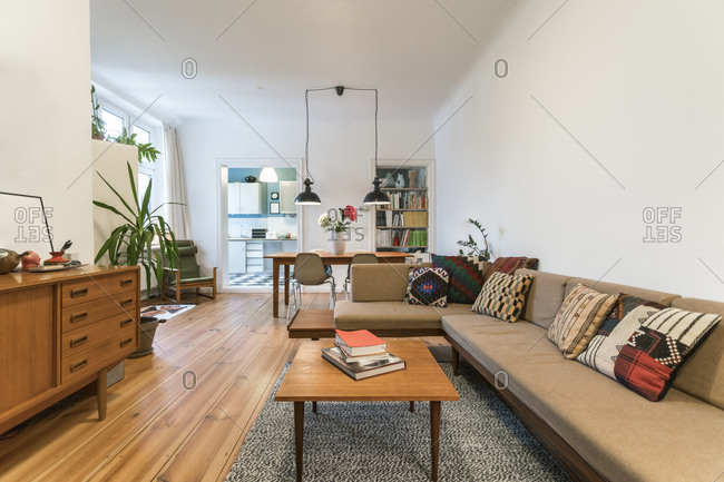 Living room of modern apartment