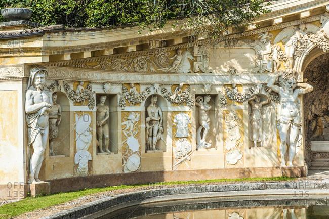 Italy - September 18,  2015: Italy,  Veneto,  Villa Veneta Barbaro (villa Volpi) (16th century,  by Andrea Palladio)