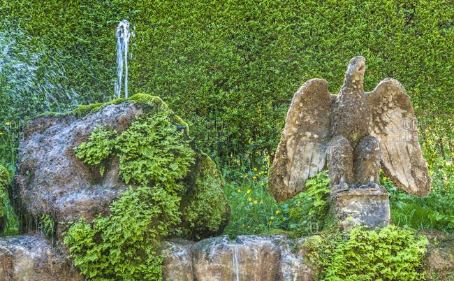 Italy,  Latium,  Tivoli,  Villa d'Este (UNESCO World Heritage),  fountain of the villa d'Este Renaissance