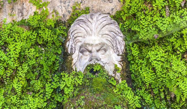 Italy,  Latium,  Tivoli,  fountain of the garden of the Villa d'Este (UNESCO World Heritage),  Renaissance