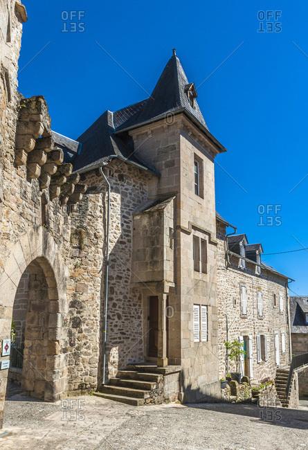 France,  Limousine,  Coreze,  Correze village,  door Margot (12th - 15th century,  Historical Monument)