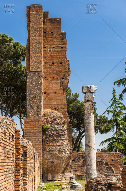 Italy,  Rome,  remains of ancient Rome on the Palatine