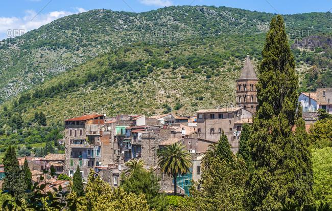 Italy,  Lazio,  near Rome,  ancient village of Tivoli
