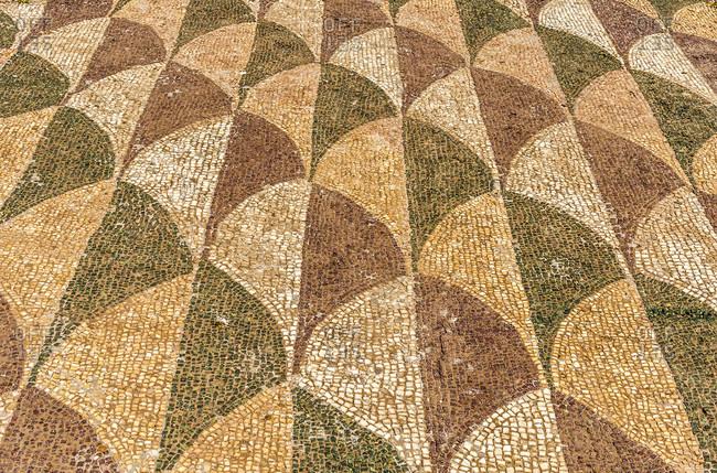 Italy,  Rome,  Caracalla Baths (2nd century,  by the emperors Caracalla,  Elagabalus,  and Severus Alexander),  mosaic pavement