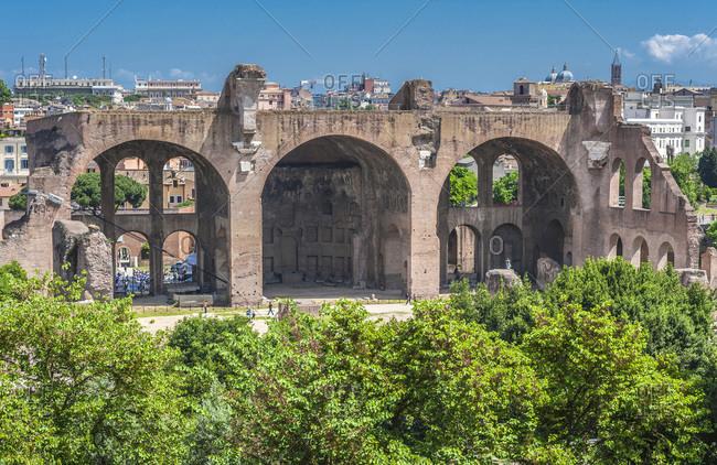 Italy,  Rome,  Roman Forum,  Basilica of Maxentius (4th century)