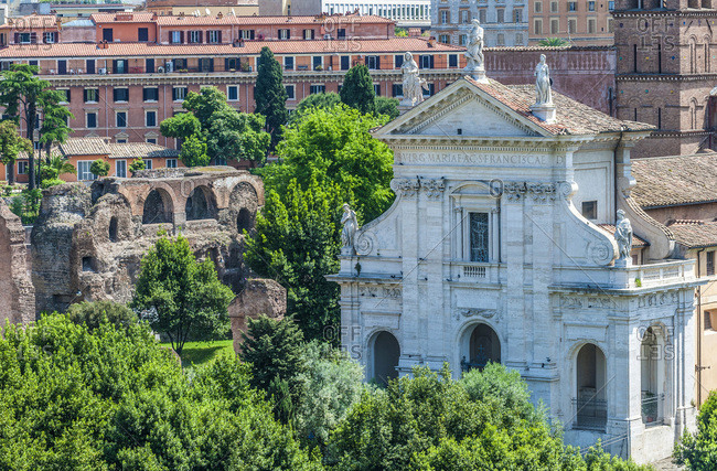 Italy,  Rome,  Roman Forum,  Santa Francesca Romana Church