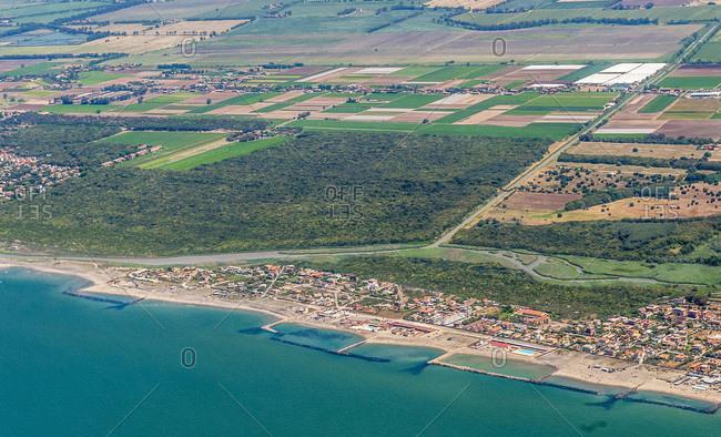 Italy,  Lazio,  coastal city of Focene and nature reserve of the Roman coast,  near the airport of Rome- Fiumicino