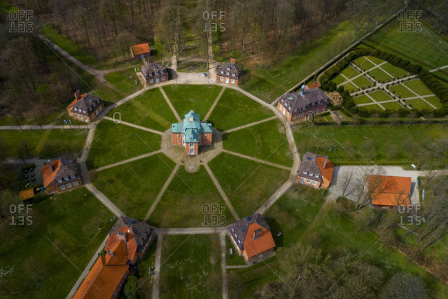 Germany - April 13,  2019: Europe,  Germany,  S�gel,  Clemenswerth Palace