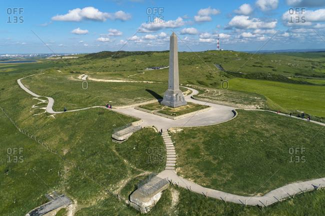 France - May 11,  2019: France,  Hauts de France,  Pas-de-Calais, . Blanc-Nez cape. Dover Patrol Monument
