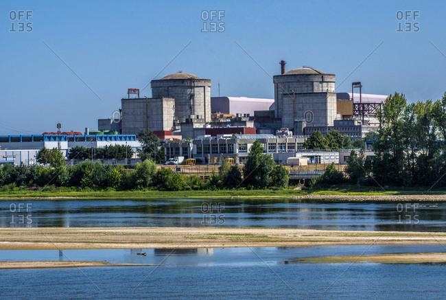 France,  Loire Valley,  Pays de la Loire,  Indre-et-Loire,  Chinon nuclear power plant in Avoine