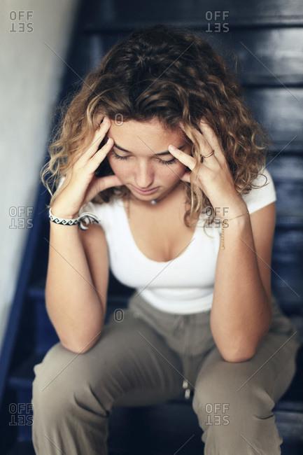 Teenage girl and everyday life
