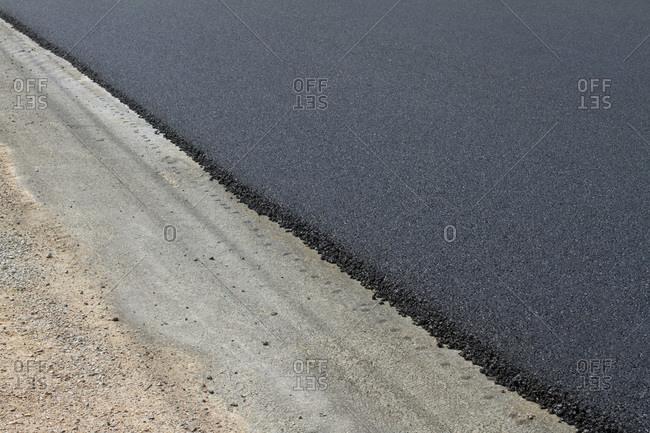 Asphalt pavement.