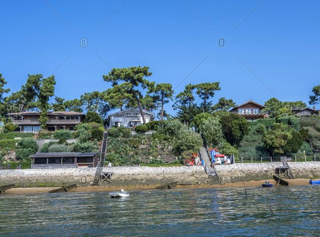 France,  Arcachon bay,  Cap Ferret,  villas in Piquey
