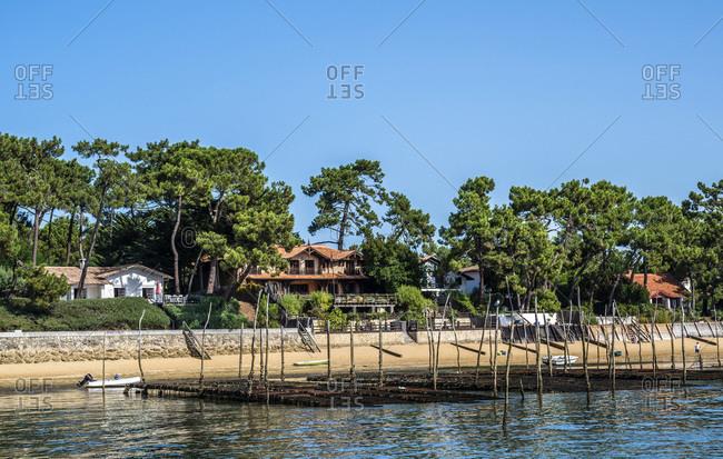 France,  Arcachon bay,  Cap Ferret,  villas in Piraillan
